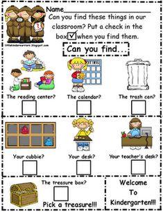 Scavenger Hunt for Back to School Night-FREEBIES! - Mrs. Wills Kindergarten