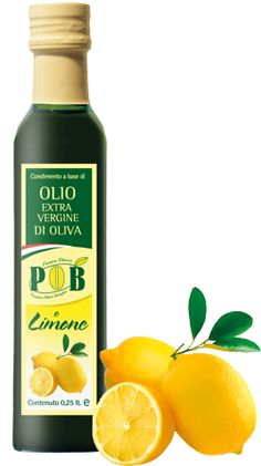 $4 Extravirgin olive oil with Lemon    Flavored with natural    The lemon oil has a slightly sour taste. It is ideal for seasoning all the dishes of Mediterranean cuisine. Recommended on shellfish, fish, salads, carpaccio, bresaola. This product is available in bottles of 0,25 liters.  www.oliopob.it