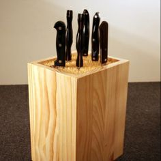Great knife block idea. Allows you to expand your knife collection.