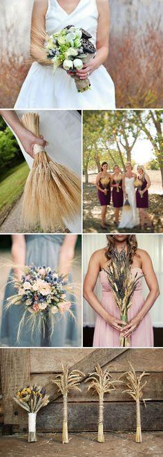 Utilize wheat in a fall wedding, creative.