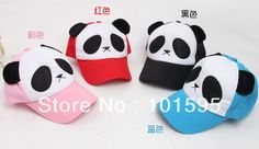 Hot Sell ! Children hat cute cartoon panda baseball cap for children sun caps free shipping