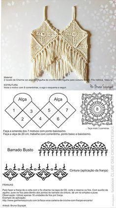 Fabulous Crochet a Little Black Crochet Dress Ideas. Georgeous Crochet a Little Black Crochet Dress Ideas. Crochet Halter Tops, Tops Tejidos A Crochet, Bikini Crochet, Gilet Crochet, Crochet Summer Tops, Crochet Motifs, Crochet Crop Top, Crochet Diagram, Crochet Blouse