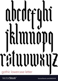 """Buy the royalty-free Stock vector """"Blackletter modern gothic font. All lowercase letters"""" online ✓ All rights included ✓ High resolution vector file for. Calligraphy Letters Alphabet, Graffiti Lettering Alphabet, Gothic Lettering, Gothic Fonts, Calligraphy Words, Typography Fonts, Tattoo Lettering Styles, Lettering Design, Gothic Alphabet"""