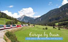 Europe by train: Five great one-week rail trip routes  Amsterdam Bruges Paris Milan