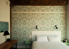 Historic King Room   Wythe Hotel, Brooklyn.  So inspiring in color, texture and simplicity