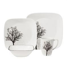 Corelle® Square™ Timber Shadows 16-pc Dinnerware Set - Corelle