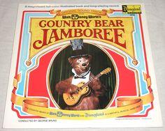 Walt Disney World's Country Bear Jamboree LP Record Album with Story Book 1972