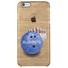 Blue Bowling Custom Ball iPhone 6 Plus Case