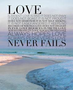Love. 1 Corinthians 13 @chellyepic
