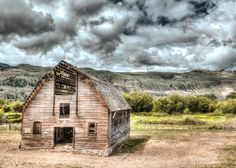An HDR of a barn in the Osoyoos region of British Columbia.