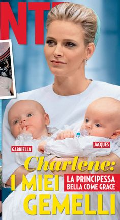 PRINCESS Charlene holding her royal twins, Princess Gabriella and Prince Jacques. ADORABLE!