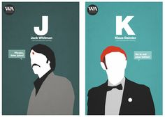 "Visual artist Hexagonall created a series of 18 minimalist posters, the ""Wes Anderson Alphabet,"" which highlights characters created by you-know-who."