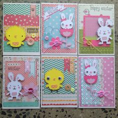 Cricut easter cards handmade create a critter baby steps Atc Cards, Cricut Cards, Scrapbooking, Scrapbook Cards, Create A Critter, Kids Cards, Cool Cards, Easter Crafts, Homemade Cards
