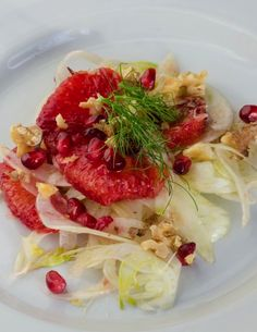 Fennel Salad with orange, pomegranate and walnuts recipe