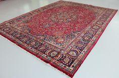 Red 9' 10 x 12' 8 Mashad Rug | Persian Rugs | eSaleRugs