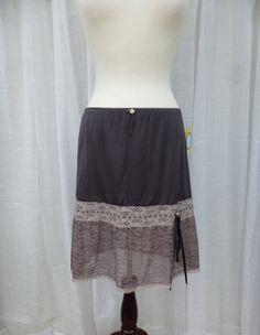 Ruffle Skirt S/M Espresso Brown Glam Garb Handmade USA by glamgarb