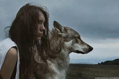 The wolf girl © MOTH ART #STRKNG  art,portrait