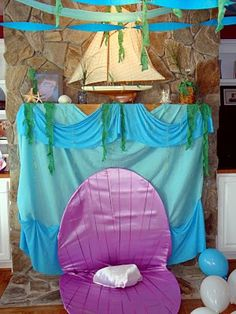 Birthday Party Blog: Under the Sea / Little Mermaid Party. This would be awesome for amaya