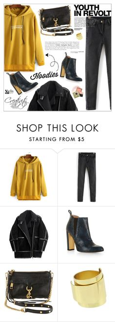 """""""Winter Layering: Hot Hoodies"""" by aurora-australis ❤ liked on Polyvore featuring H&M, BCBGMAXAZRIA, Rebecca Minkoff, Hedi Slimane, NARS Cosmetics, Benefit, women's clothing, women's fashion, women and female"""