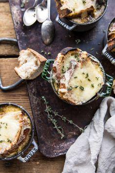 Herby French Shallot Soup | halfbakedharvest.com #french #soup #fallrecipes #cozyrecipes #familyrecipes