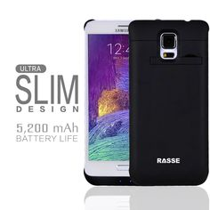 Rasse 5300mAh Battery Charger Case,Power your Samsung Galaxy Note 4