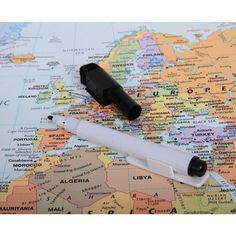 World Wall Map Dry Erase Peel and Stick Reusable Removable Home Office for sale online