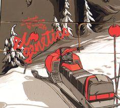 Gnu Snowboard graphics 2012-13 by Adam Haynes, via Behance
