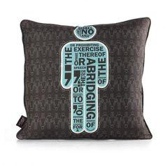 AM 1  in Cornflower Pillow