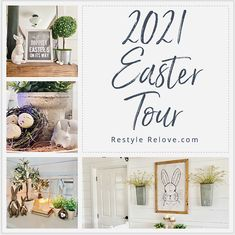 My 2021 Farmhouse Style Easter Home Tour Rustic Farmhouse, Farmhouse Style, Room Tour, Easter Decor, House Tours, Table Settings, Decor Ideas, Decorating, Inspiration