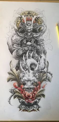 Warrior Tattoo Sleeve, Samurai Tattoo Sleeve, Samurai Warrior Tattoo, Dragon Sleeve Tattoos, Forearm Sleeve Tattoos, Warrior Tattoos, Japanese Warrior Tattoo, Japanese Tattoo Art, Japanese Tattoo Designs