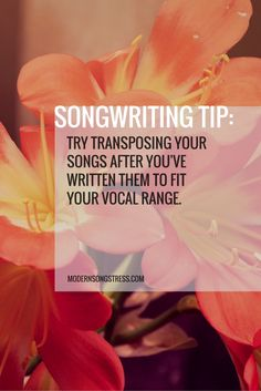 This is always helpful because in transposing you often hear something a little different and it helps vary the song.