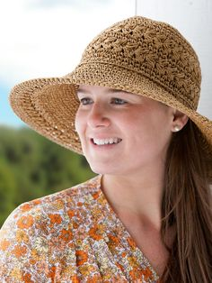 Crocheted floppy hat from the Vermont Country Store