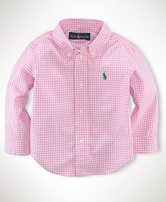 Ralph Lauren Baby Boys' Solid Oxford Shirt | Oxford shirts and Babies