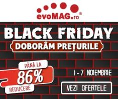evomag.ro Black Friday, Console, Signs, Sport, Fitness, Deporte, Shop Signs, Sports, Roman Consul