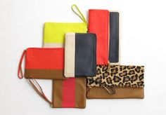 We're crushing on GAP clutches.