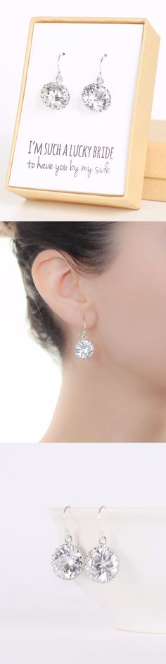 Stunning super sparkly cubic zirconia earrings. Great gift for bridesmaids that they will want to wear again and again.