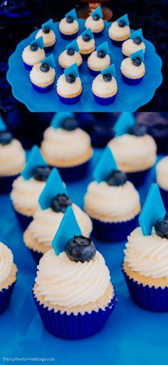 Geometric Cupcakes for Dessert Table Inspiration By Fancy Pants Weddings