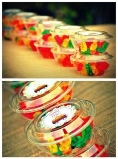 Party favors for fiesta birthday party. Candy Table, Candy Buffet, Rasta Party, Bar A Bonbon, Troll Party, Party Decoration, Ideas Para Fiestas, Thanksgiving, Candy Party