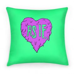 adorable throw pillow for bed. or couch or arm chair.