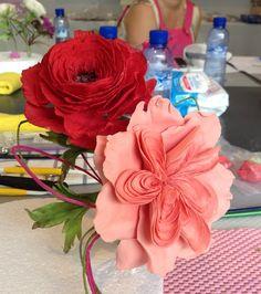 Old rose y ranunculo