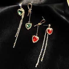 2020 New Dominated Long tassels fashion Drop earrings asymmetric Korea – Touchy Style