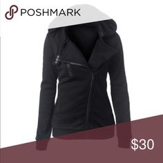 🎉New arrival🎉💕Black jacket black zip jacket with serious style! Make an offer 🎉💰 Jackets & Coats Utility Jackets