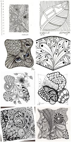 Zentangle: After all these years, I've found out that there's a name for these designs I love to draw :3