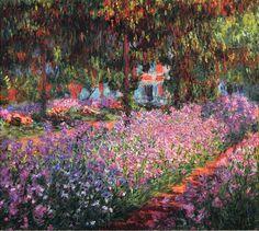"""Claude Monet, """"Iris nel giardino di Monet"""" (1900) Museo d'Orsay, Paris - 81 x 92 cm Olio su tela"""