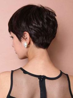 Stylist back view short pixie haircut hairstyle ideas 30