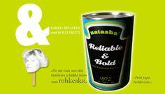 Verkkosivubanneri Realiable & Bold. Natasha Varis, 2010. – http://natashadesign.fi/