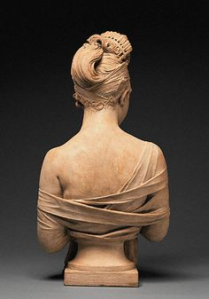 Bust of Madame Recamier:Back Joseph Chinard French, about 1801 - 1802 Terracotta H: 24 7/8 x W: 12 3/4 x D: 9 1/2 in. Joseph Chinard French, about 1801 - 1802 Terracotta H: 24 7/8 x W: 12 3/4 x D: 9 1/2 in.
