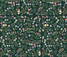 Heidi Flowers fabric by heidikenney on Spoonflower - custom fabric