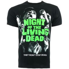 Night of the Living Dead t shirt – black t shirt – mens clothing UK ($16) ❤ liked on Polyvore featuring men's fashion, men's clothing, men's shirts and men's t-shirts