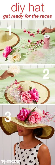 Get Ready For The Races With A DIY Hat: It wouldn't be spring without the horse races. Put your own spin on a southern tradition— the southern style hat. Decorate with colorful florals, bright textured ribbons and whatever else strikes your fancy. Then, it's off to Kentucky for the races! Shop TJMaxx.com for more spring essentials.